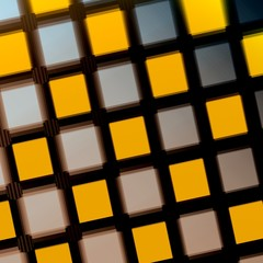 Jittered Squares - Yellow Purple Matrix - Pattern - Background