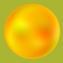 Balloon - Iridescent Abstract Yellow Ball - Pearl Bubble