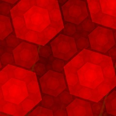 Elegant Abstract Red Hexagons Background