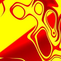 Abstract Psychedelic Scream - Pareidolia - Alien - Modern Art