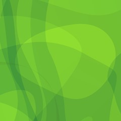 Simple Green Abstract Seaweed Background