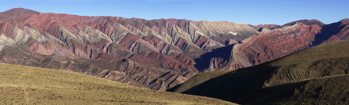 Mountain of fourteen colors, Quebrada de Humahuaca, Northern Arg