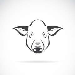 Vector image of an pig head