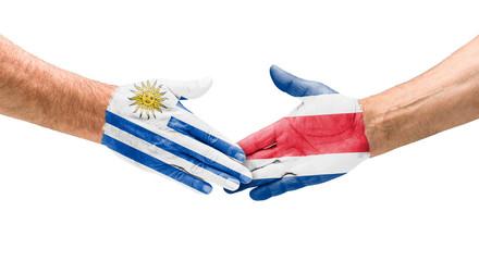 Handshake Uruguay und Costa Rica