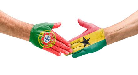 Handshake Portugal und Ghana