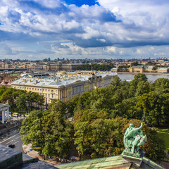 St. Petersburg Russia. Neva View from St. Isaac's Cathedral