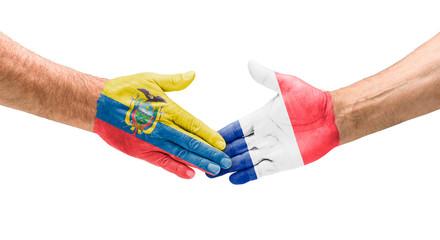 Handshake Ecuador und Frankreich