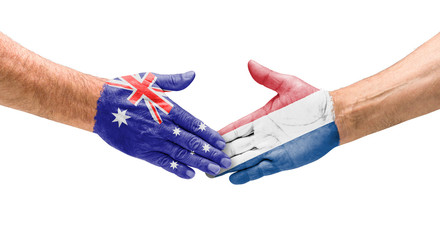 Handshake Australien und Niederlande