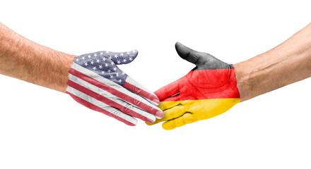 Handshake USA und Deutschland