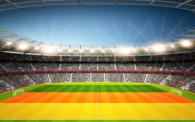 Wall Mural - Stadion Deutschland Seitenlinie