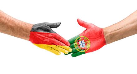 Handshake Deutschland und Portugal
