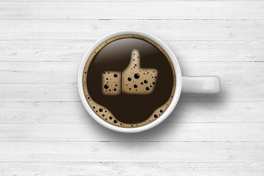 Cup of coffee / Like