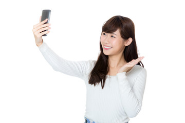 Asian woman selfie