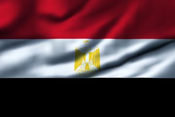 Waving flag, design 1 - Egypt