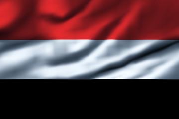 Waving flag, design 1 - Yemen