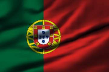 Waving flag, design 1 - Portugal