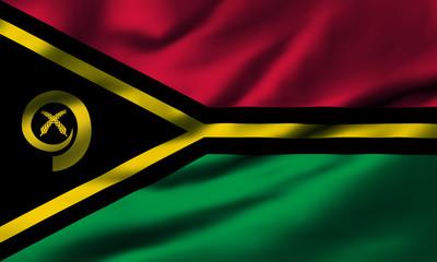 Waving flag, design 1 - Vanuatu