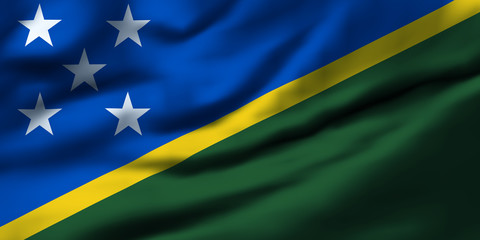 Waving flag, design 1 - Solomon Islands