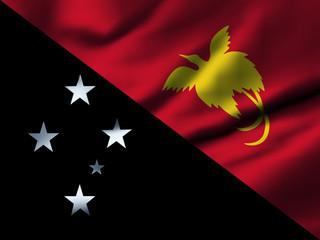 Waving flag, design 1 - Papau New Guinea