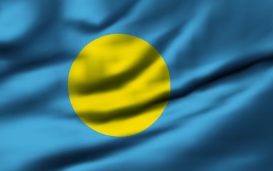 Waving flag, design 1 - Palau