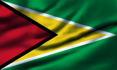 Waving flag, design 1 - Guyana