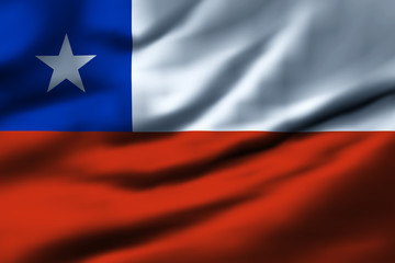 Waving flag, design 1 - Chile