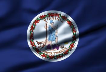 Waving flag, design 1 - Virginia