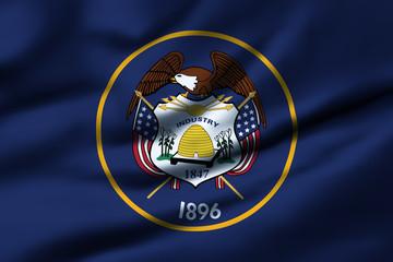 Waving flag, design 1 - Utah