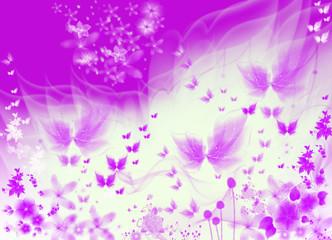 purple texture butterflies