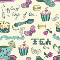 Color tea time pattern