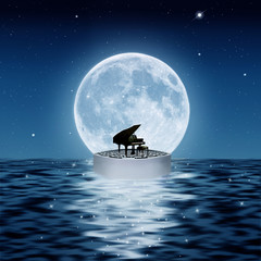 the piano and the ocean