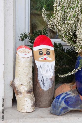 Naturlich Dekorieren Weihnachtlich Mit Holz Nikolaus Stockfotos