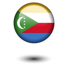 Flag button illustration - Comoros