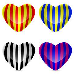 Vektörel Renkli Kalp İllüstrasyonu