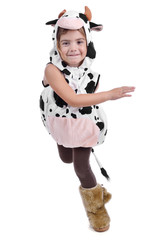 Girl dressed in a sheep costume