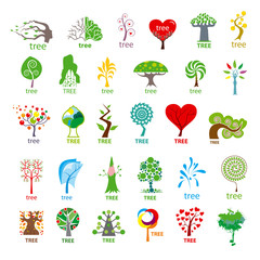 biggest collection of vector logos stylized tree