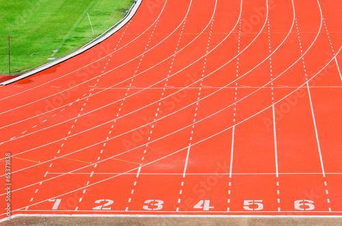 Wall mural Athletics track