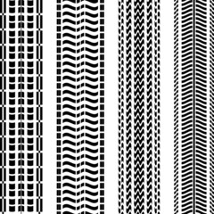 Set of black tire tracks