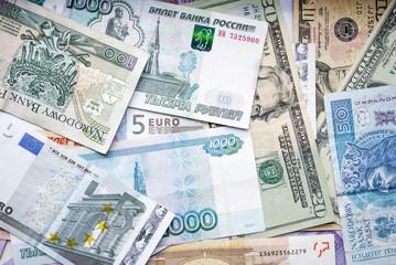 USD, EUR, PLN, UAH, RUB