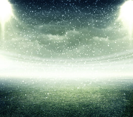 Stadium raining
