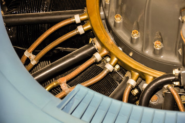 details of a plane's radial engine