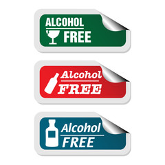 Alcohol free stickers