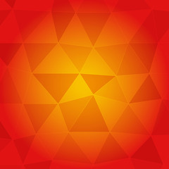 Red and orange abstract background with frame