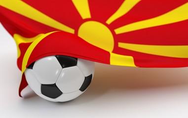 Macedonia flag with championship soccer ball