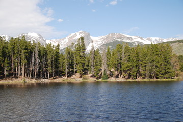Wall Mural - Sprague lake in Rocky Mountain National Park, CO, USA