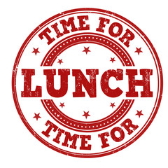 Time for lunch stamp