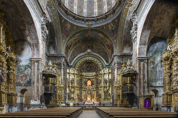 St. Maria Church in Los Arcos, Navarre. Spain.