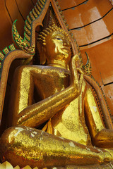 Big golden Buddha in Wat Tham Suea, Kanchanaburi