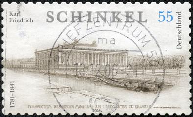 stamp printed in the Germany shows Karl Friedrich Schinkel