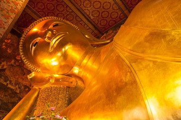 Reclining Buddha image, Thailand